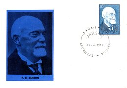 BELGIQUE. N°1414 De 1967 Sur Carte Maximum. Paul-Emile Janson. - Maximumkarten (MC)