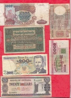 Pays Du Monde 10 Billets Dans L 'état Lot N °2 - Monnaies & Billets
