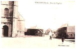 """[59] Nord >Wallers    """"rue De L'Eglise""""  (Format 9 X 14) - Frankrijk"""