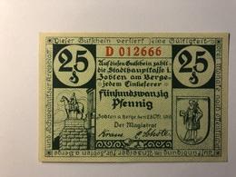Allemagne Notgeld Allemagne Zobten 25 Pfennig - [ 3] 1918-1933 : République De Weimar
