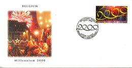 BELGIQUE. N°2877 De 2000 Sur Enveloppe 1er Jour. Millennium. - FDC