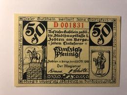 Allemagne Notgeld Allemagne Zobten 50 Pfennig - [ 3] 1918-1933 : République De Weimar