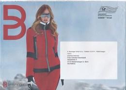 BRD Stuttgart Dialogpost Allemagne FRW 2018 Breuninger Mode Winter Frau Brief In Die Schweiz - BRD