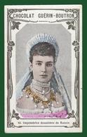 M3-36323 About 1912. Chromo Chocolat Guerin Boutron,Imperatrice Douairiere De Russie - History