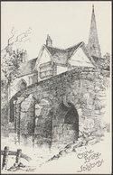 Crane Bridge, Salisbury, Wiltshire, C.1904 - R R Edwards Postcard - Salisbury