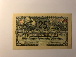 Allemagne Notgeld Allemagne Zweibrucker 25 Pfennig - [ 3] 1918-1933 : République De Weimar