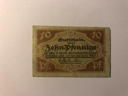 Allemagne Notgeld Allemagne Zwickau 10 Pfennig - [ 3] 1918-1933 : République De Weimar