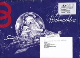 BRD Stuttgart Dialogpost Allemagne FRW Groß 2018 + Quickmail-Label Breuninger Mode Weihnachten Bär Brief In Die Schweiz - BRD