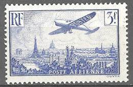 "FR Aerien YT 12 (PA) "" Avion Survolant Paris, 3F00 Outremer "" 1936 Neuf* - 1927-1959 Mint/hinged"