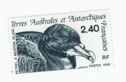 VP6L9 TAAF FSAT Neufs ** MNH Faune Pétrel A Menton Blanc 2.40 F 1996 N 204 - Terres Australes Et Antarctiques Françaises (TAAF)
