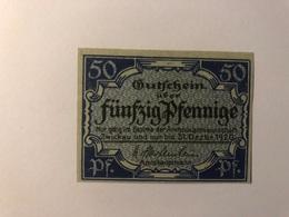 Allemagne Notgeld Allemagne Zwickau 50 Pfennig - [ 3] 1918-1933 : République De Weimar