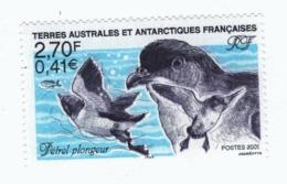 VP6L9 TAAF FSAT Neufs ** MNH Faune Petel Plongeur 0.41 Euros 2001 N°288 - Terres Australes Et Antarctiques Françaises (TAAF)