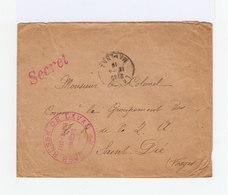 Sur Enveloppe Cachet Rouge Etat Major Français Base Russe De Laval. CAD Laval 1918. Cachet Secret. (956) - Marcophilie (Lettres)
