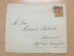 FL3698 Bolivien Brief Nach Paraguay It Stummen Stempel - Bolivia