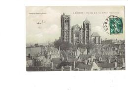 Cpa - 18 - Bourges - Façade Cathédrale - Vue Prise De La Tour Du Palais - Travaux échafaudage - 1910 - N°6 - Bourges