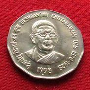 India 2 Rupees  1998 D. C. Das  Inde Indie UNCºº - Inde