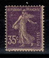 Semeuse YV 142d Papier GC N* (legere) Cote 15 Euros - Neufs