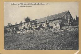 TB Cpa SONDERNACH - Melkerei  Wirtschaft Mathias  Baumgart -   SCHNEPFENRIED - 1913 - Munster