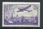 "FR Aerien YT 10 (PA) "" Avion Survolant Paris, 2F25 Violet "" 1936 Neuf* - 1927-1959 Mint/hinged"