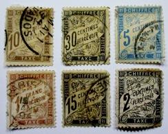 France 6 Timbres Taxes Oblitérés Used - Taxes
