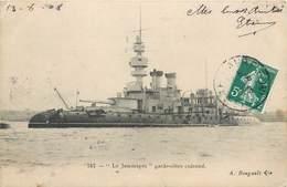 CPA Le Jemmapes Garde Côtes Cuirrassé 1908 Bateau Navire Marine - Guerra