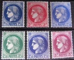 R1692/414 - 1938 - TYPE CERES - N°372 à 376 NEUFS** (SERIE COMPLETE) - BON CENTRAGE - Cote : 28,00 € - Frankreich