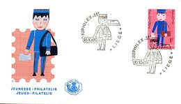 BELGIQUE. N°1511 De 1969 Sur Enveloppe 1er Jour. Facteur/Dessin D'enfant. - Poste