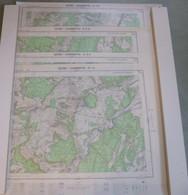 Lot De 4 Cartes I.G.N. : GEVREY-CHAMBERTIN - 1-2, 3-4, 5-6 Et 7-8 - 1/25 000ème -1948/62. - Cartes Topographiques