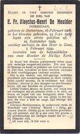 Bidrpent - De Meulder Aloysius-Henri (Antwerpen 1908 - Gent 1930): Dominicaan - Klooster Getreden 1929 - Images Religieuses