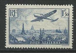 "FR Aerien YT 9 (PA) "" Avion Survolant Paris  1F50 Bleu "" 1936 Neuf* - 1927-1959 Mint/hinged"