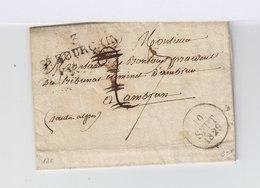 Sur Pli Avec Correspondance Pour Ambrun Cachet Linéaire 3 St Pourçain. CAD 10 Spt 1829. Cachet De Cire. (958) - Marcophilie (Lettres)