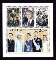 SUEDE 1996 - YT 1915/1918 - Facit 1956/1959 - NEUFS ** LUXE/ MNH - Série Complète 4 Valeurs - Roi Charles XVI Gustave - Schweden
