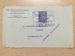 FL3698 Kolumbien Briefvorderseite Von Cucuta Nach Dresden - Colombie