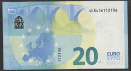 "EURO 20  ITALIA SB S021  ""42""  DRAGHI  UNC - EURO"