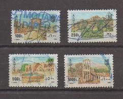 4 Fiscal Stamps 1993  Lebanon Revenue, Liban Libano - Liban