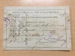 FL3698 Kolumbien 1886 Ausschnitt Aus Einer Postsache - Colombie