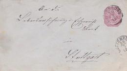 ENTERO ENTIER CIRCULEE GERMANY 1905 ROTTENBURG A STUTTGART. AUTRE MARQUE- BLEUP - Deutschland