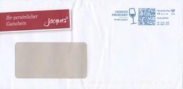 BRD Leonberg Frankit FR Dialogpost 0,28 Euro 2018 Wein Weinglas Herein Probiert Jaques Weinkontor - BRD