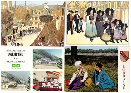 LOT 1020 CARTES POSTALES  Principalement France , Cartes Scannées Incluses - Cartes Postales