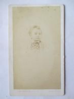 Photographie Ancienne CDV -  Second Empire -  Portrait D'Enfant  ( Alfred ) - Photo Langerock, Paris    BE - Photographs