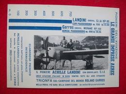 ACHILLE LANDINI IDROVOLANTE S.I.Ae MORANE ROLAND GARROS COMO - Aviatori