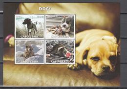 Cabo Verde 2016,4V In Block,dogs,honden,hunde,chiens,perros,cani,,MNH/Postfris(L3418) - Honden