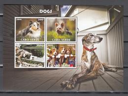 Cabo Verde 2016,4V In Block,dogs,honden,hunde,chiens,perros,cani,,MNH/Postfris(L3419) - Honden