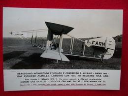 AEROPLANO MONOPOSTO ACHILLE LANDINI  MILANO 1948 I-FARM - Aviatori