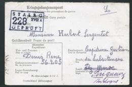 """Carte De Camp De Prisonniers """"Stalag 228 XVII A GEPRUFT Envoyée à Périgueux En 1942    LX0504 - Marcofilie (Brieven)"""