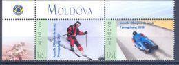 2018. Moldova, Personal Stamps, Winter Olympic Games Pyeongchang 2018, 2v, Mint/** - Moldavie