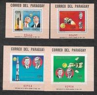 #B191# PARAGUAY MICHEL BL 124,125,126,127 MNH**, SPACE. KENNEDY, VON BRAUN. - Paraguay
