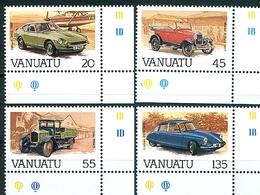 Vanuatu, Automobiles (Datsun, Ford, Unic, DS19), N° 755 à 758 Y&T Neufs Sans Charnière Bord De Feuille - Vanuatu (1980-...)