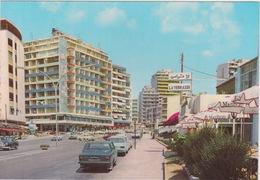 LIBAN LEBANON 1952 CARTE POSTALE -  RAOUSHEH DISCTRICT - BEIRUT CARS LA TERRASEE - Liban