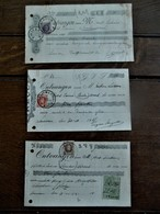 Drie Stuks               Ontvangst Bewijs  Eerelid Kempische Hoodstudentengilde   1924  BAELEN- WEZEL - Diplomi E Pagelle